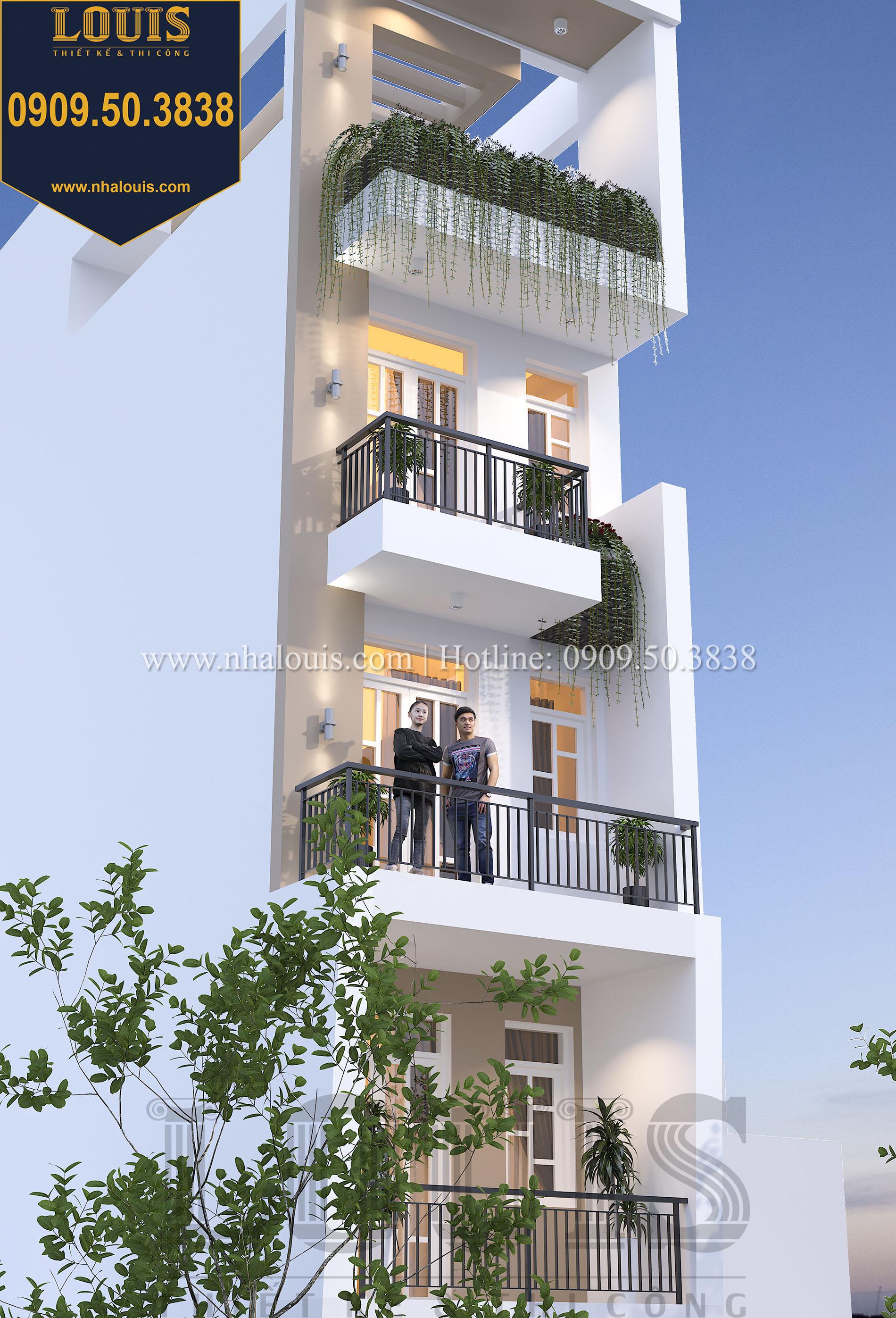 Mặt tiền Thiết kế nhà phố hiện đại mặt tiền 4m đẹp ngỡ ngàng tại Bình Tân - 03