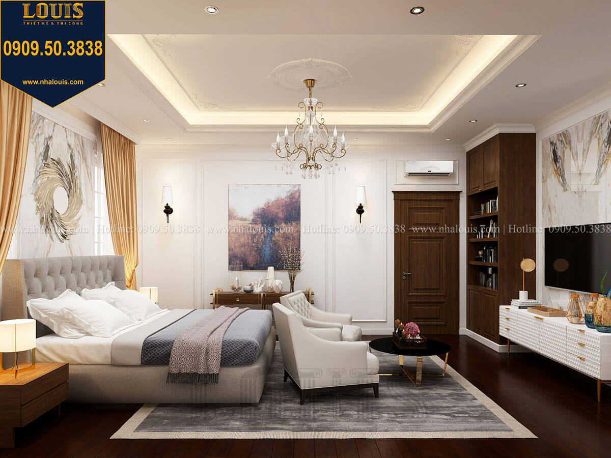 thiết kế phòng ngủ với nội thất Ý