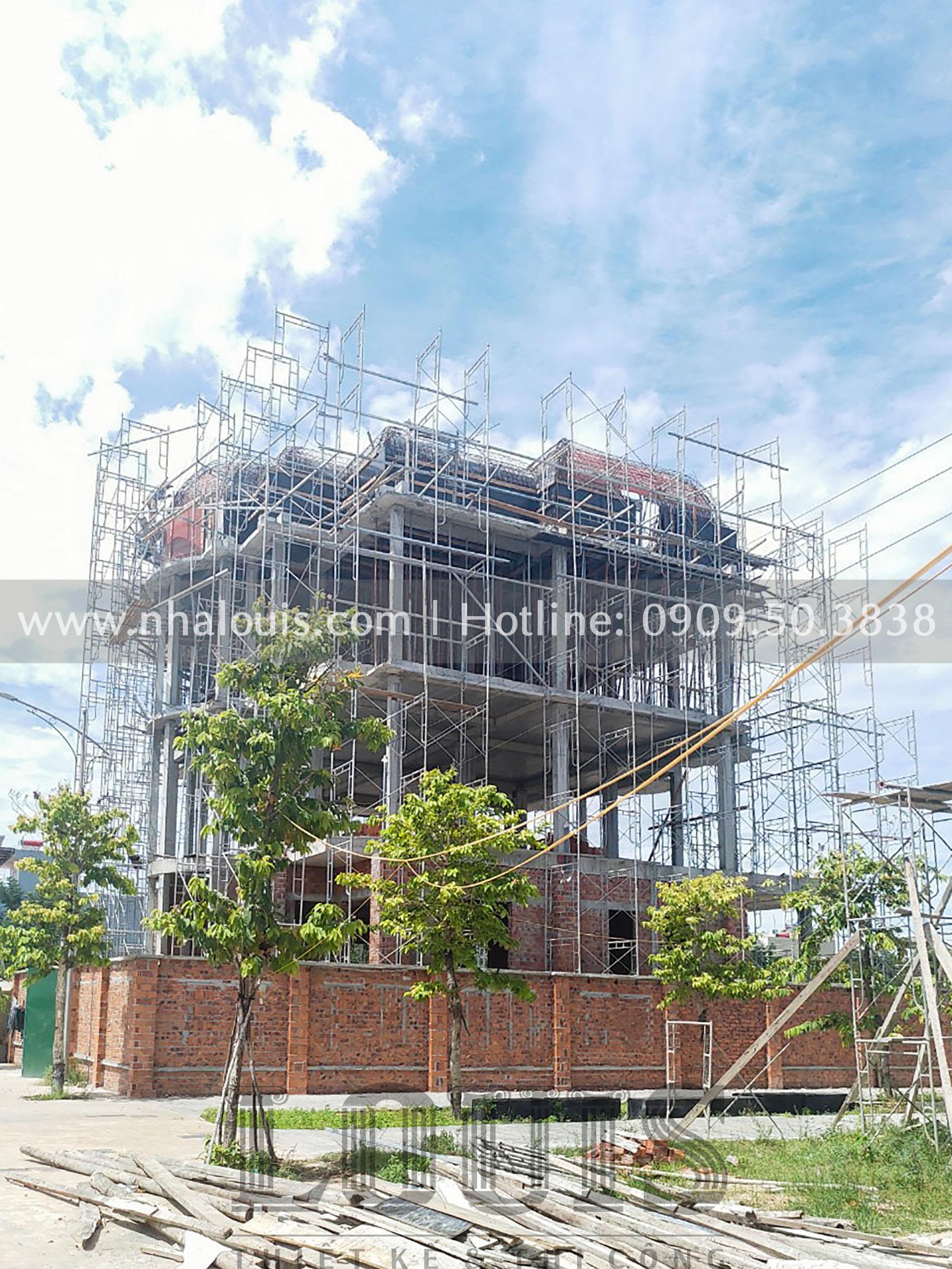 Thi công biệt thự 4 tầng tân cổ điển đẳng cấp tại Quảng Ngãi