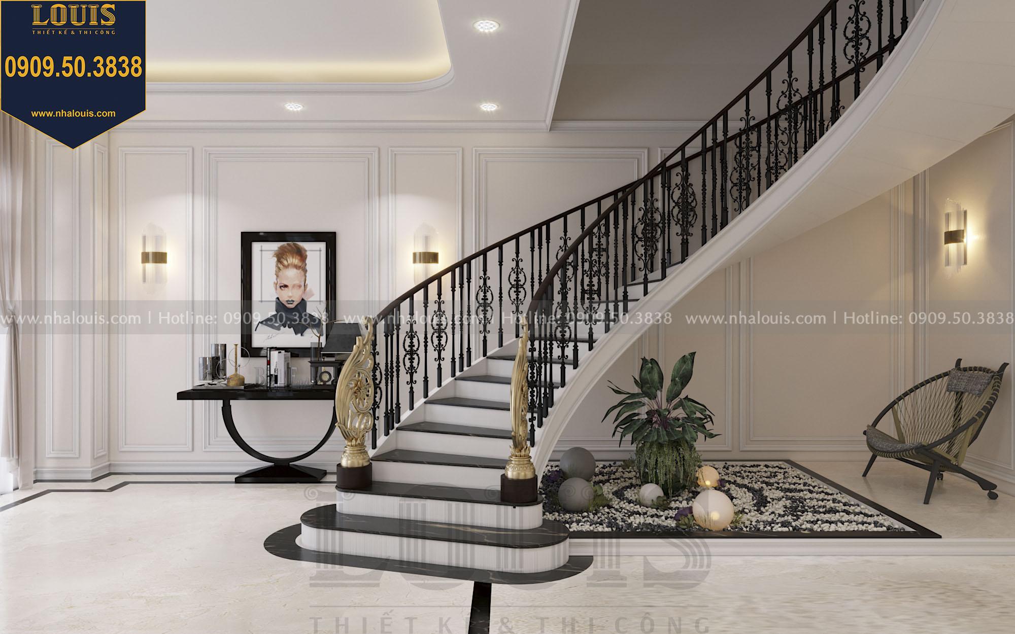 Thiết kế cầu thang nhà phố phong cách tân cổ điển