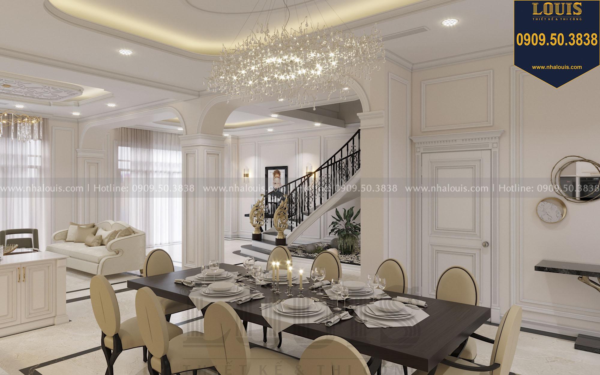 Thiết kế phòng ăn nhà phố phong cách tân cổ điển