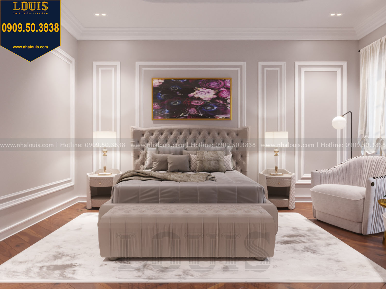 Thiết kế phòng ngủ master nhà phố phong cách tân cổ điển