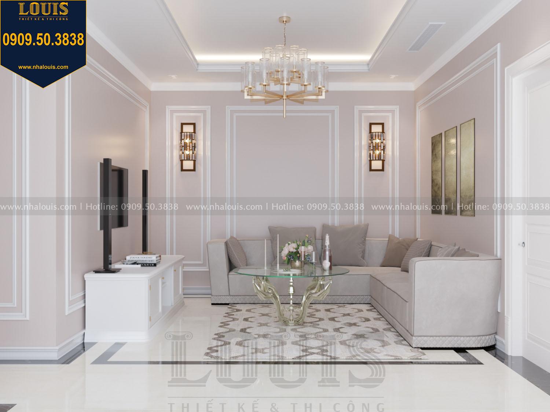 Thiết kế phòng sinh hoạt chung master nhà phố phong cách tân cổ điển