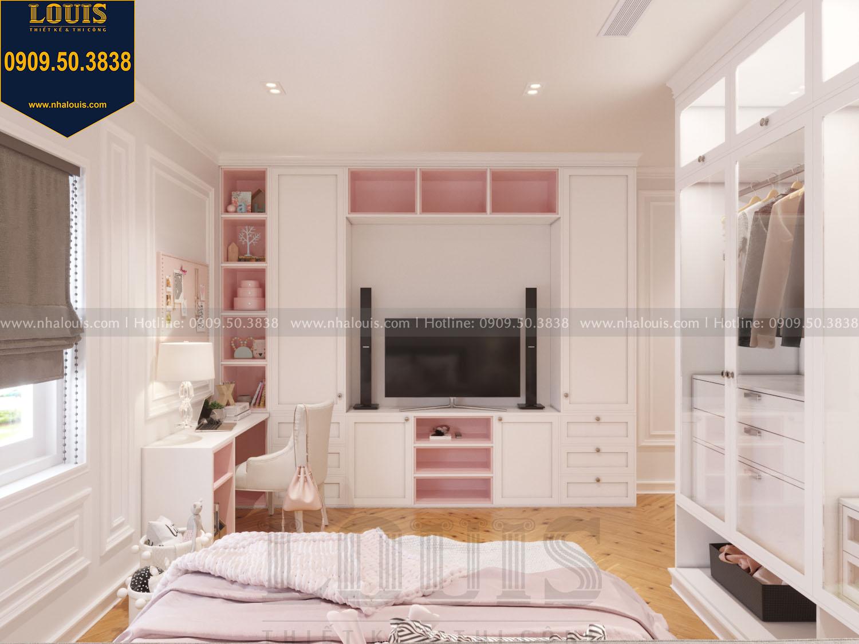 Thiết kế phòng ngủ con gái nhà phố phong cách tân cổ điển
