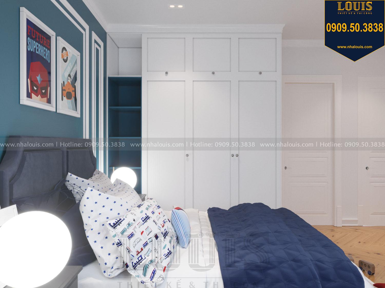 Thiết kế phòng ngủ con trai nhà phố phong cách tân cổ điển