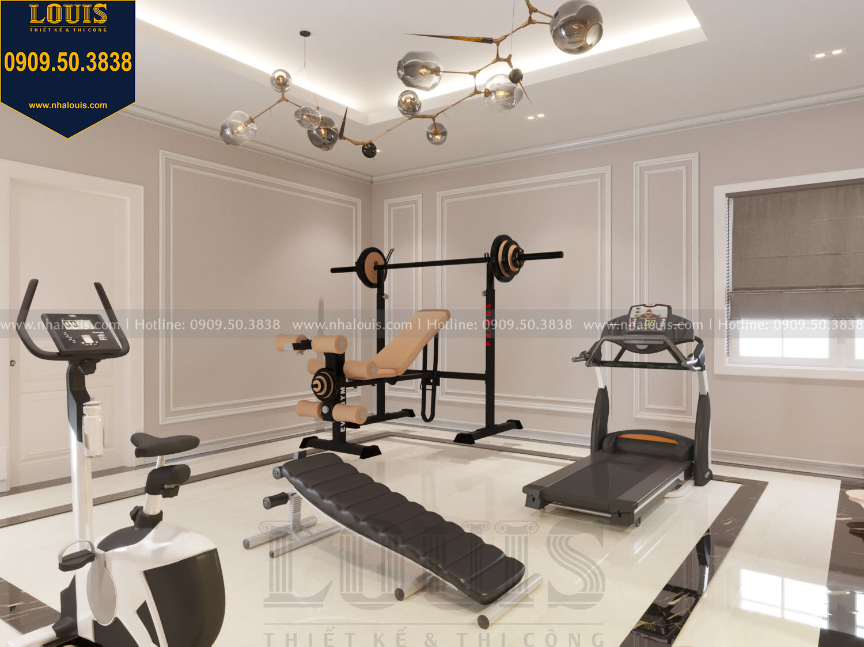 Thiết kế phòng tập gym nhà phố phong cách tân cổ điển