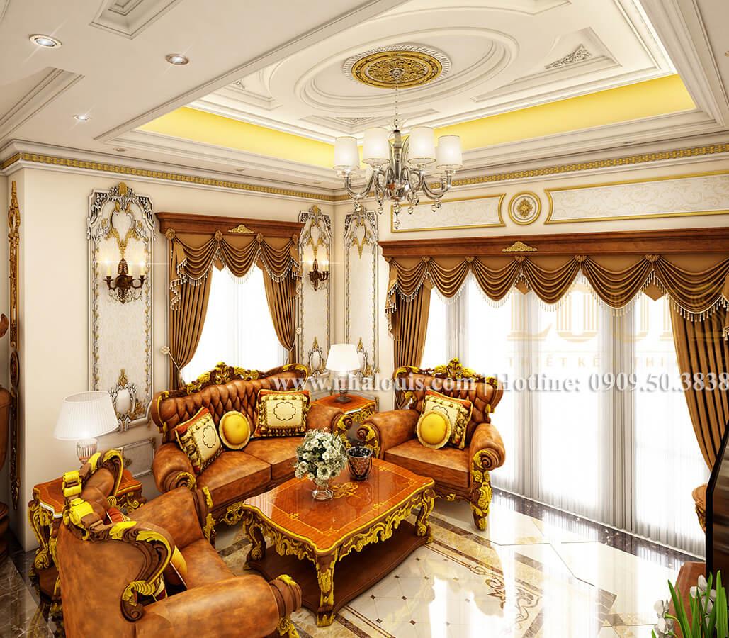 Phòng khách biệt thự cổ điển