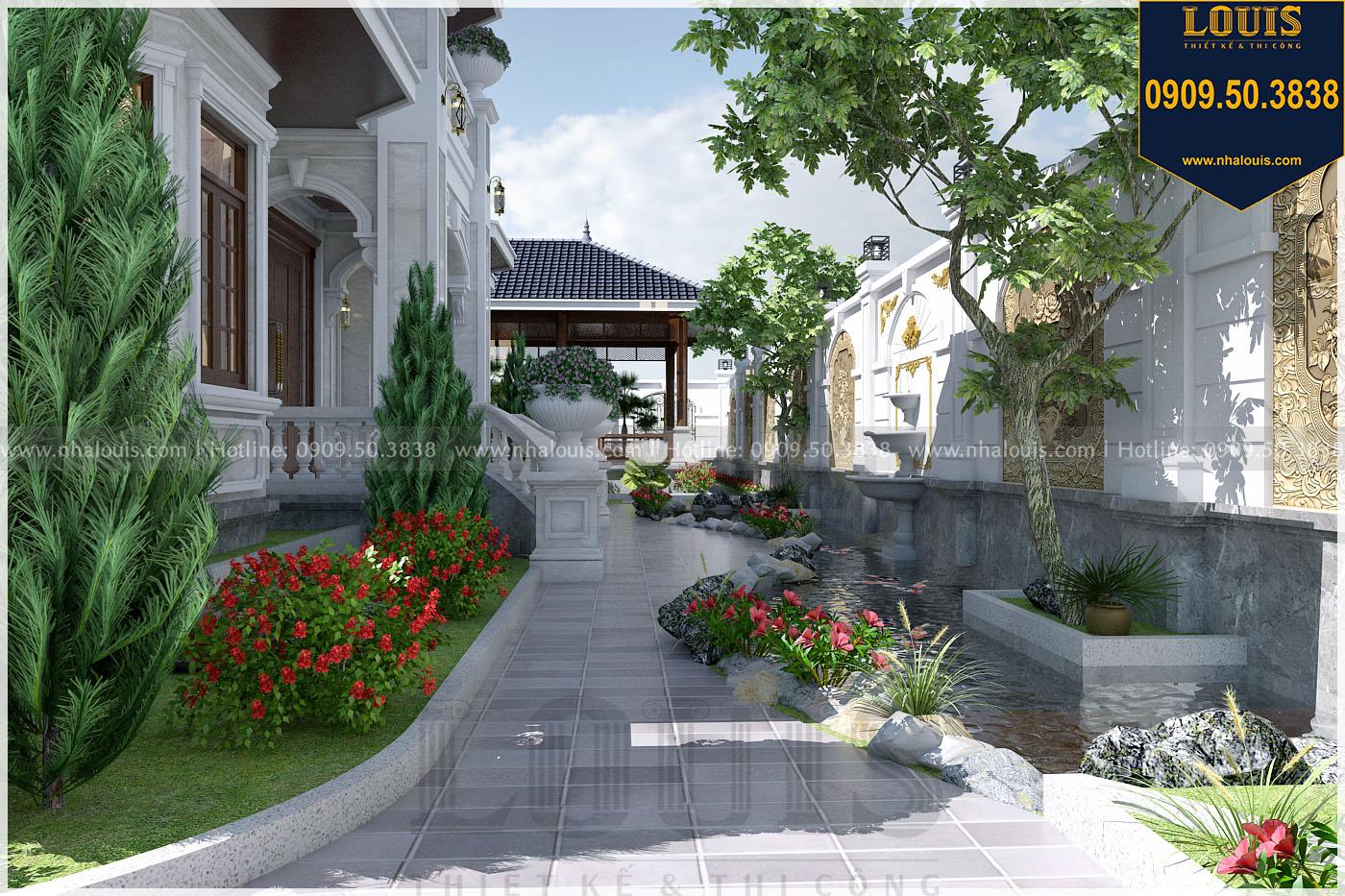Sân vườn biệt thự hiện đại kiểu Nhật ở Bình Dương