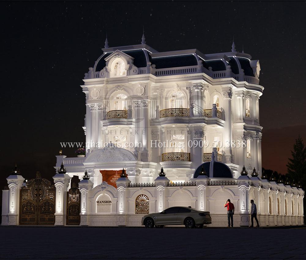 Biệt thự tân cổ điển 4 tầng tôn vinh vẻ đẹp kiến trúc Pháp tại Quảng Ngãi