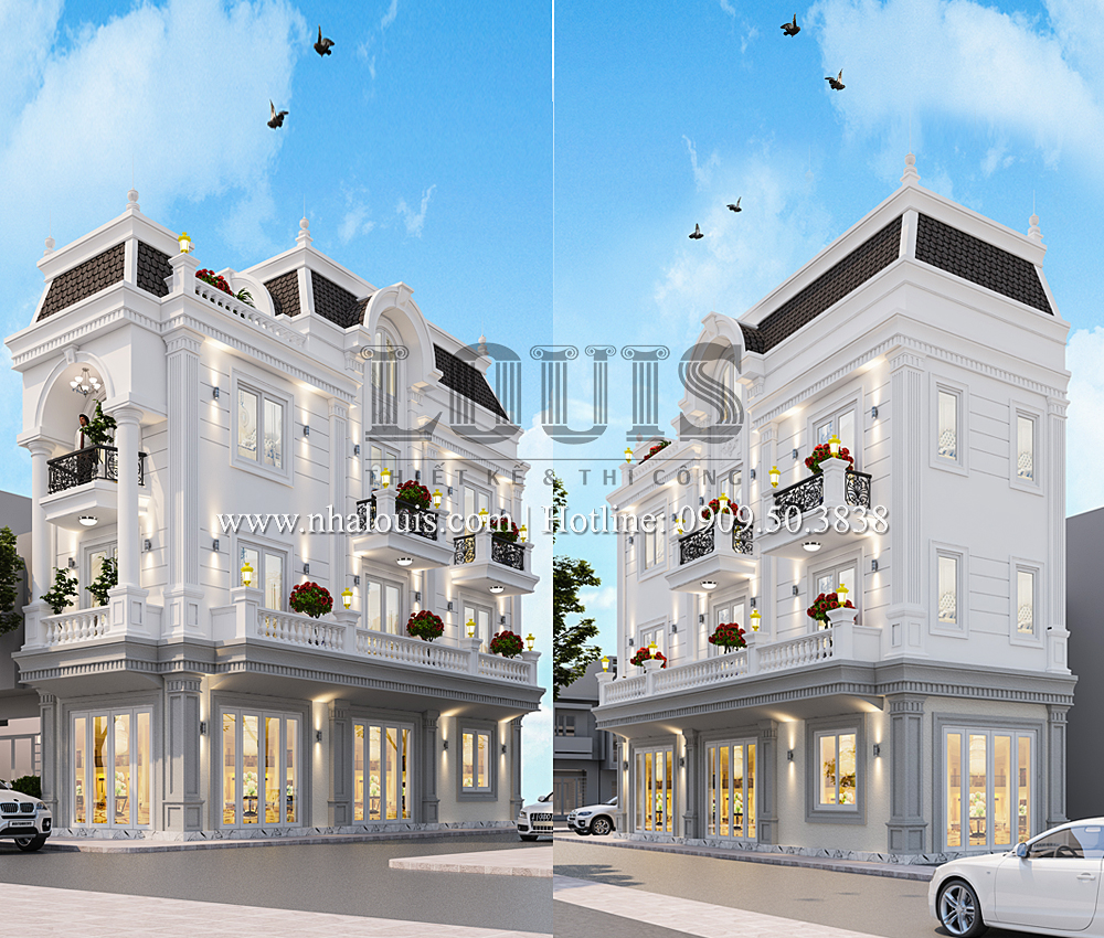 Nhà phố 4 tầng tân cổ điển đẳng cấp với lợi thế 3 mặt tiền tại Bến Tre
