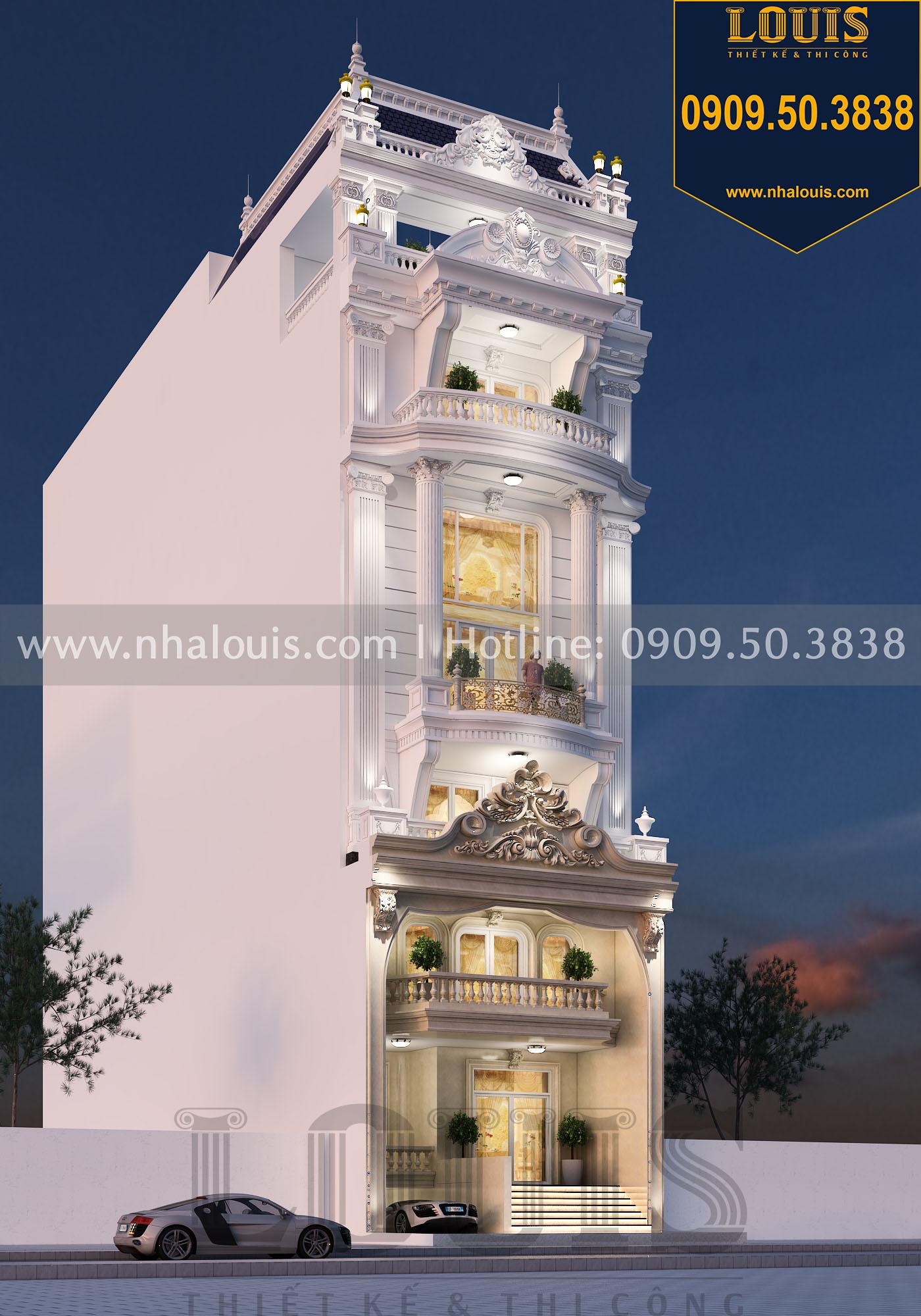 Mẫu thiết kế nhà phố tân cổ điển 8 tầng
