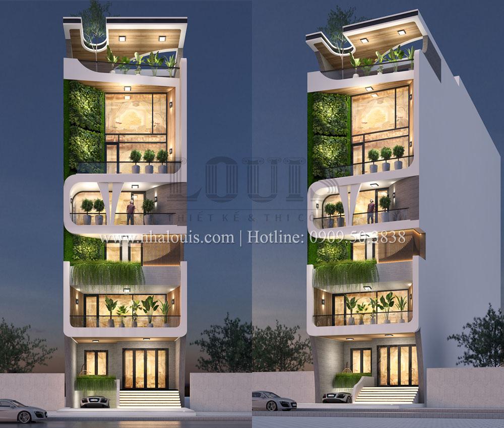 Thiết kế nhà ở kết hợp văn phòng 8 tầng sang trọng tại Quy Nhơn