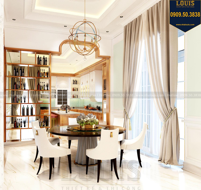 Phòng ăn tân cổ điển biệt thự 2 tầng mặt tiền 8m