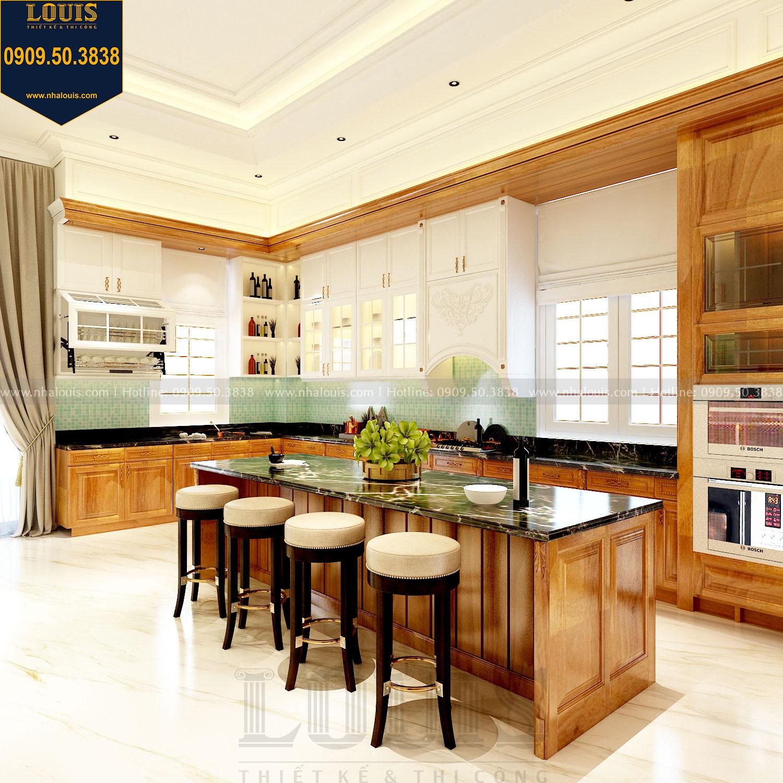 phòng bếp tân cổ điển biệt thự 2 tầng mặt tiền 8m