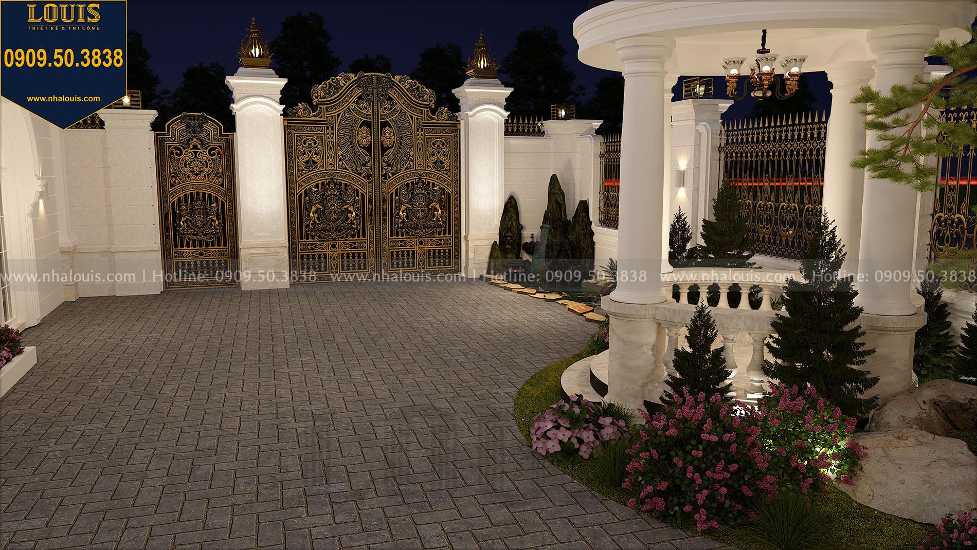Phối cảnh sân vườn biệt thự tân cổ điển