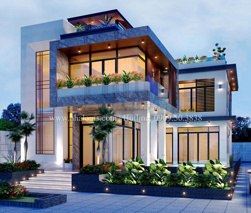 Mẫu biệt thự 2 tầng đơn giản