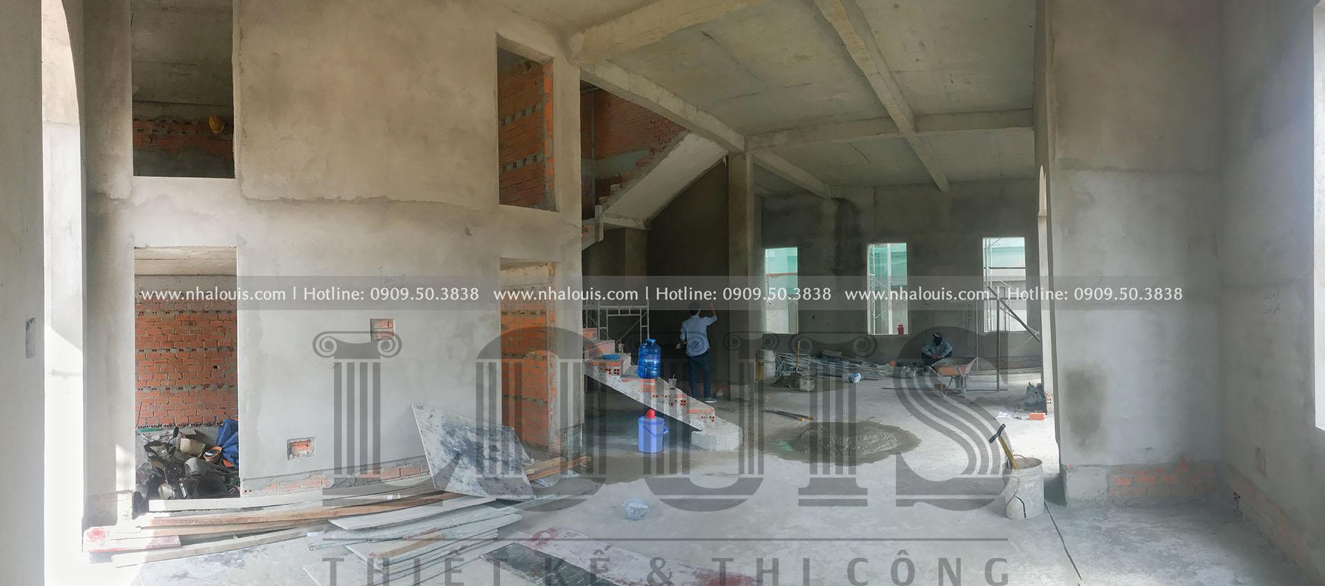 Thi công biệt thự cổ điển 2 tầng sang trọng tại Bến Tre