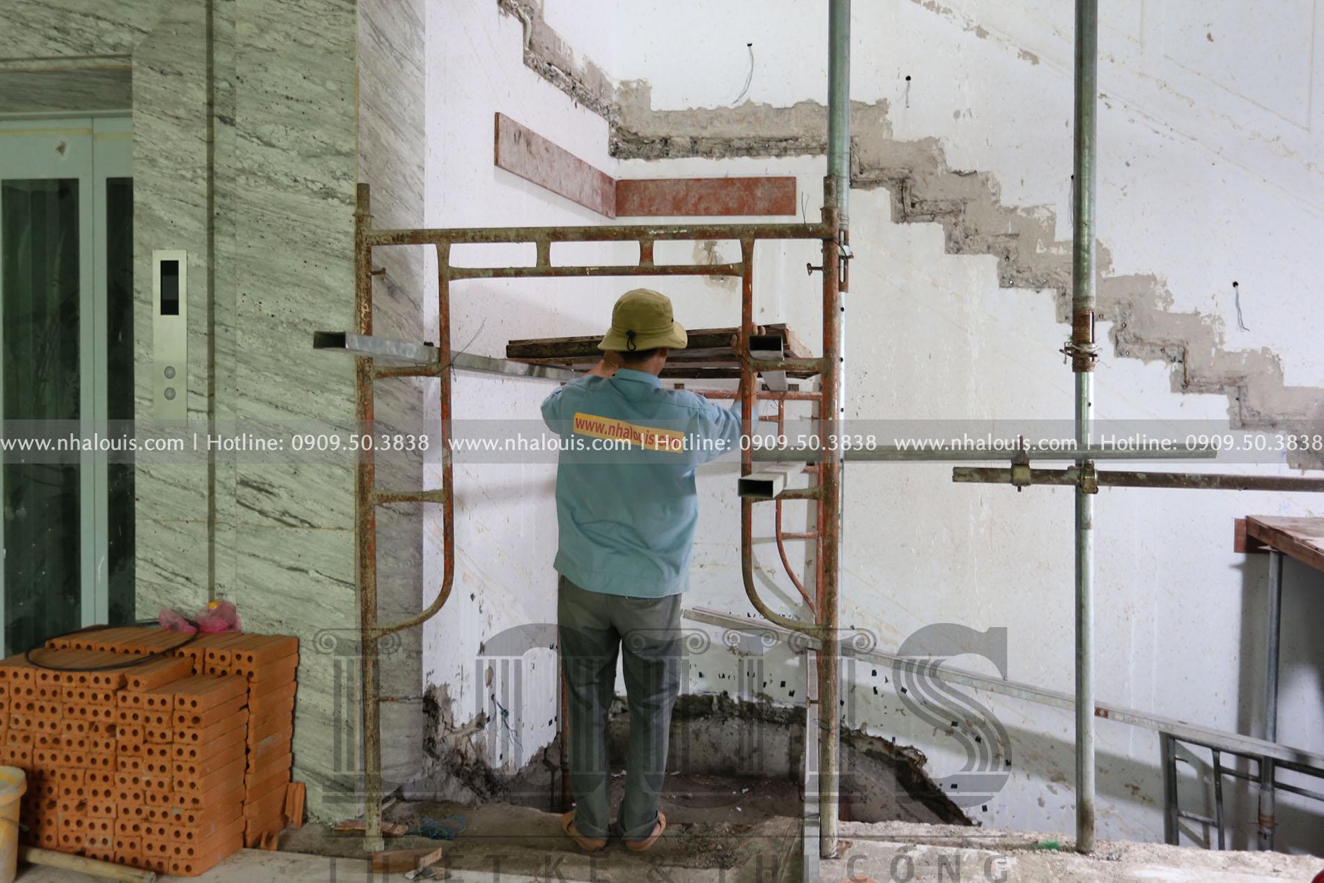 Thi công cải tạo siêu biệt thự cổ điển đẳng cấp tại TPHCM