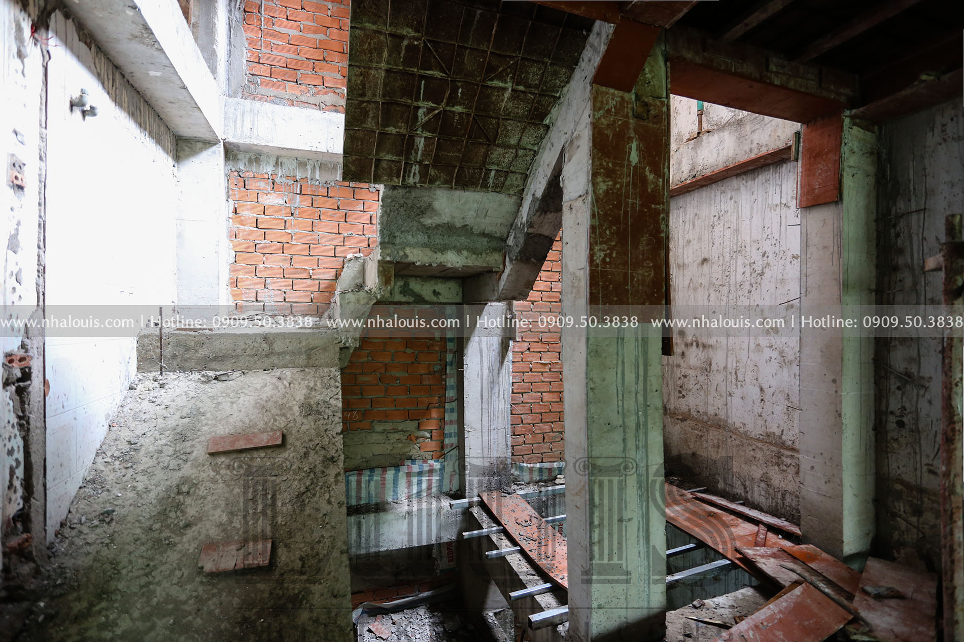 Tạo hình mặt tiền nhà tân cổ điển 7 tầng tại Quận 3