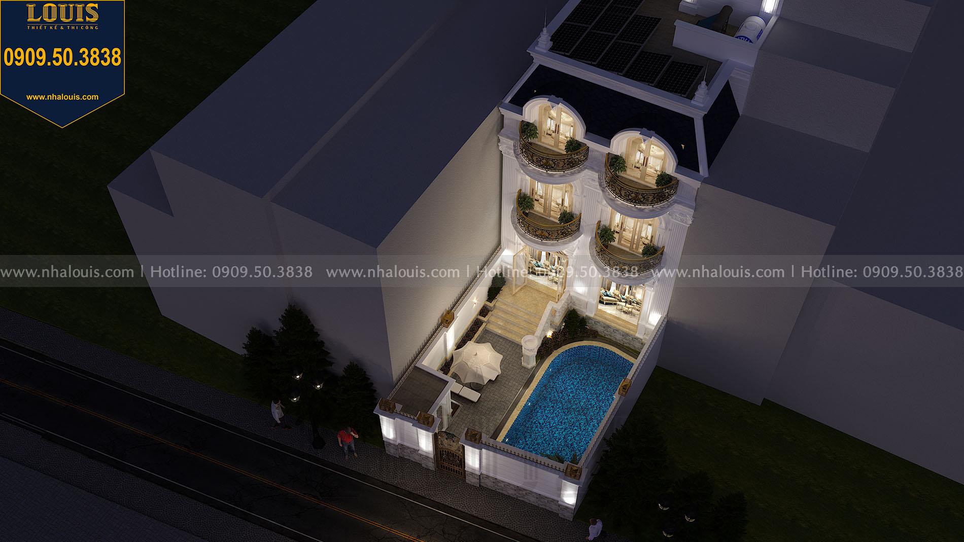Hình ảnh phối cảnh hồ bơi của biệt thự