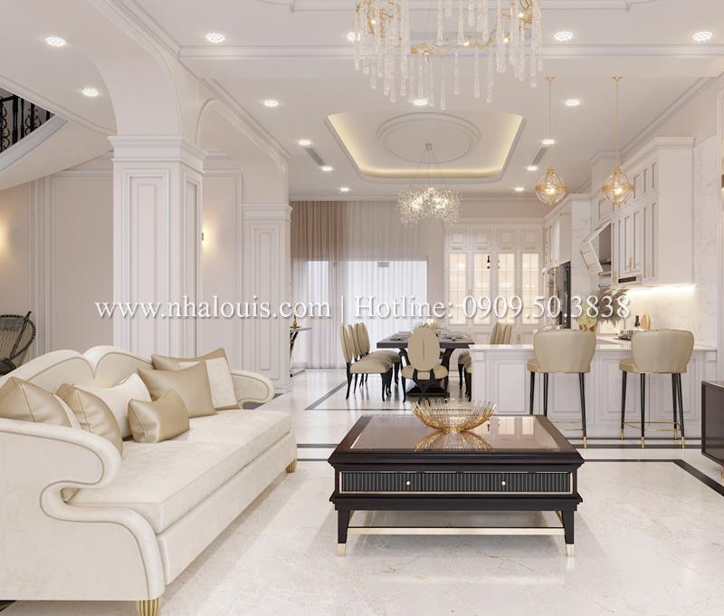 Thiết kế phòng khách và bếp liên thông - Xu hướng mới được ưa chuộng 2019