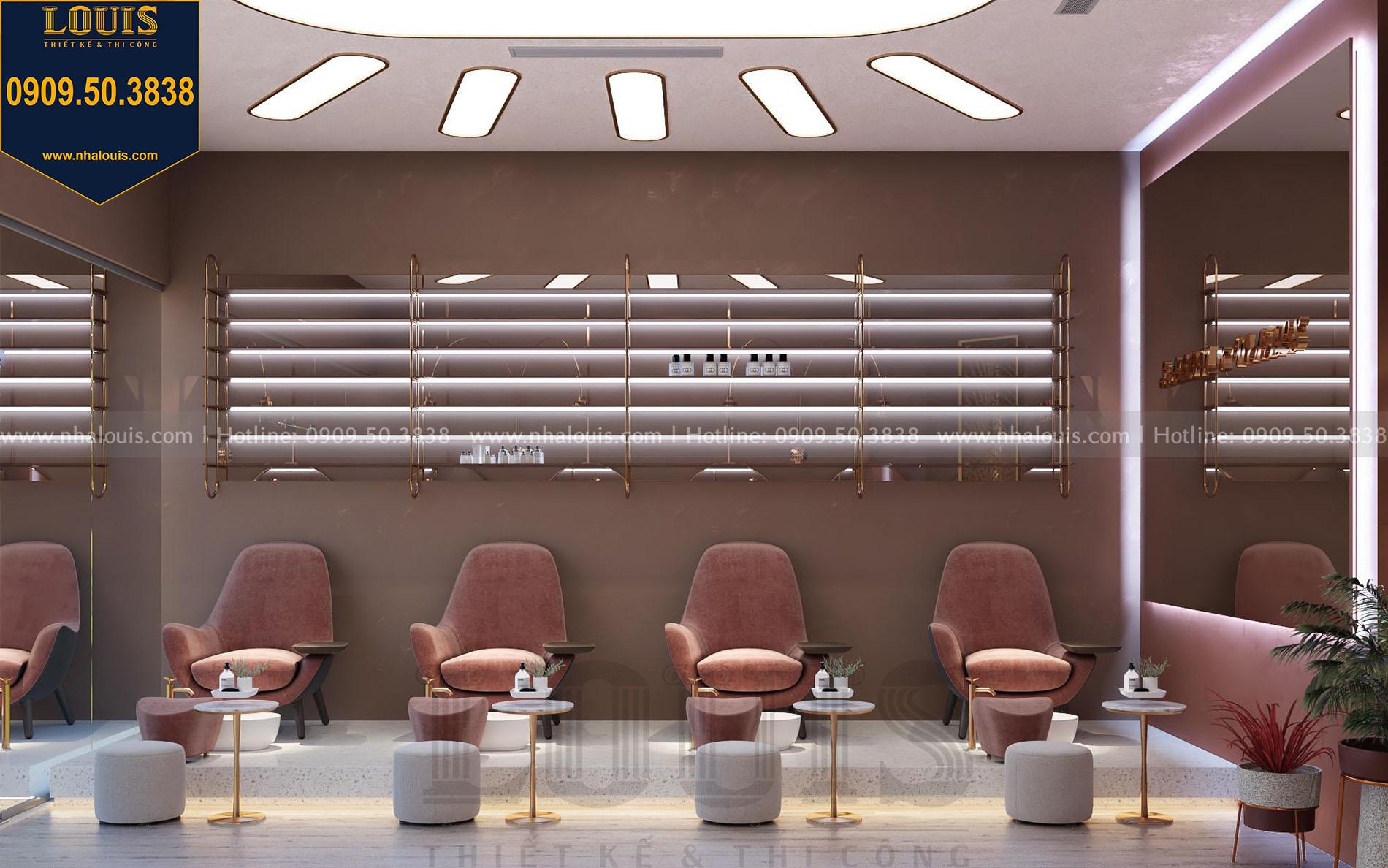Thiết kế tiệm nail đẹp sang trọng và đẳng cấp tại Bình Dương