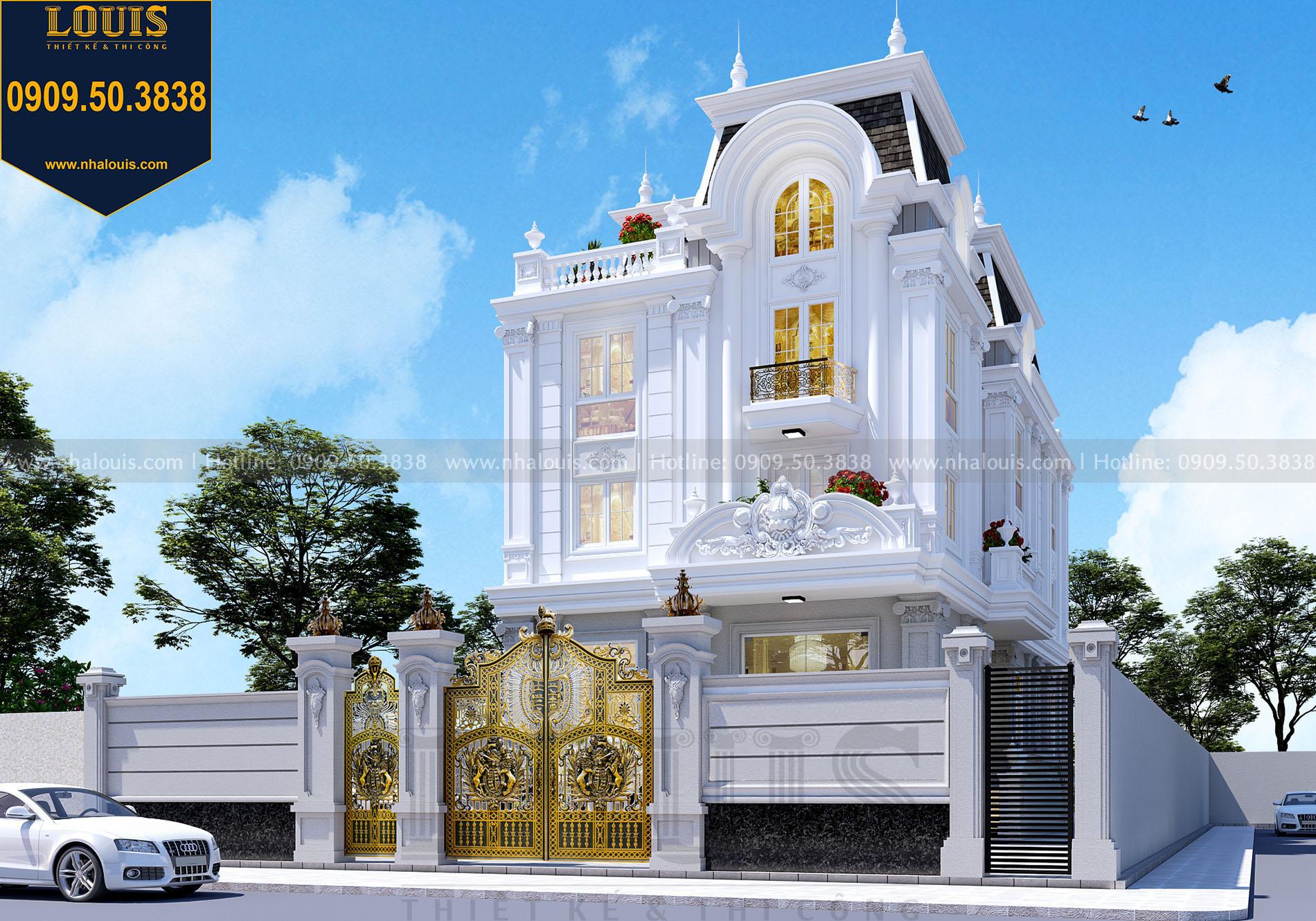 thiết kế mặt tiền tòa nhà văn phòng tại Kiên Giang
