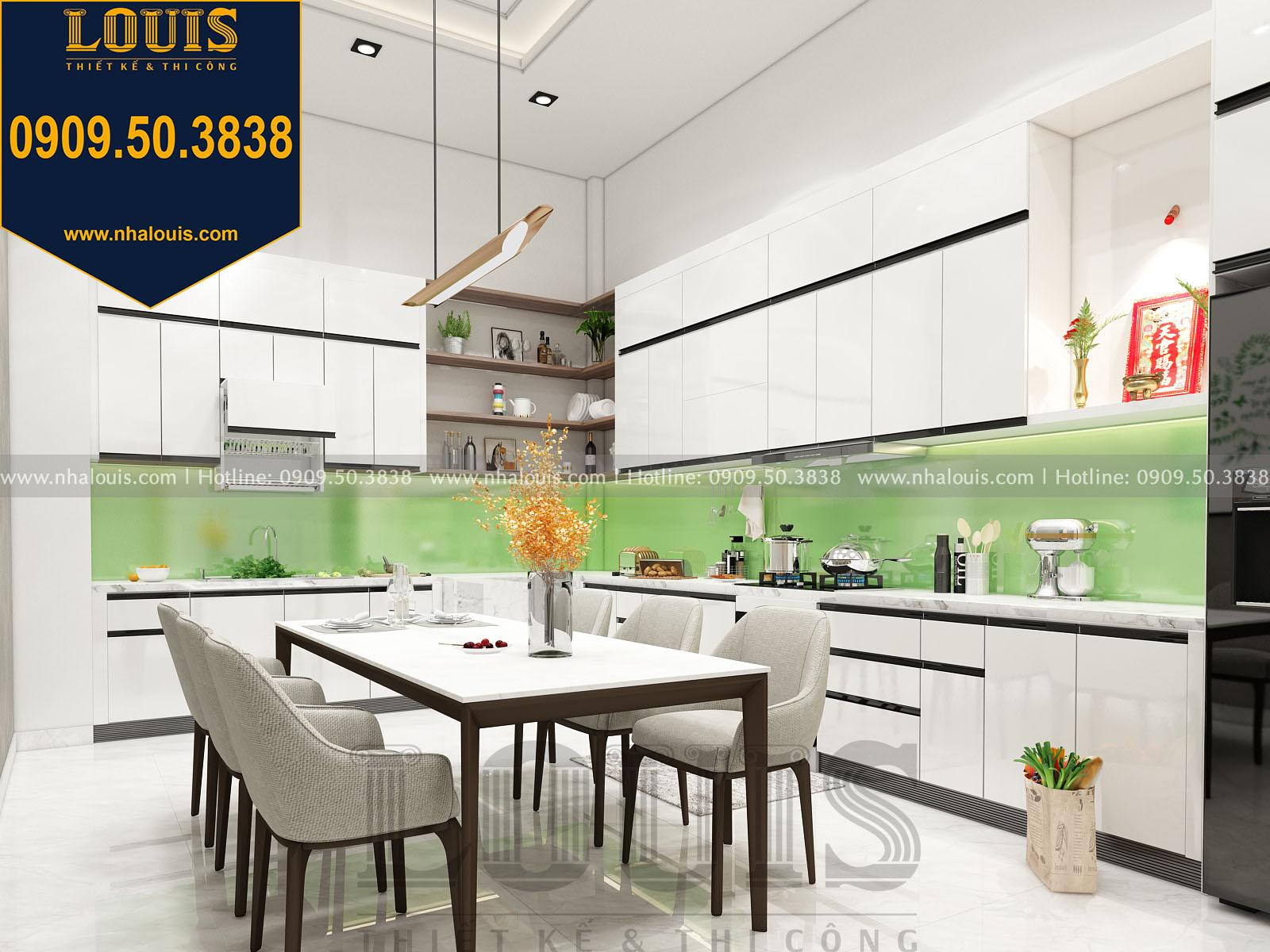 Bếp và phòng ăn nhà phố 5 tầng
