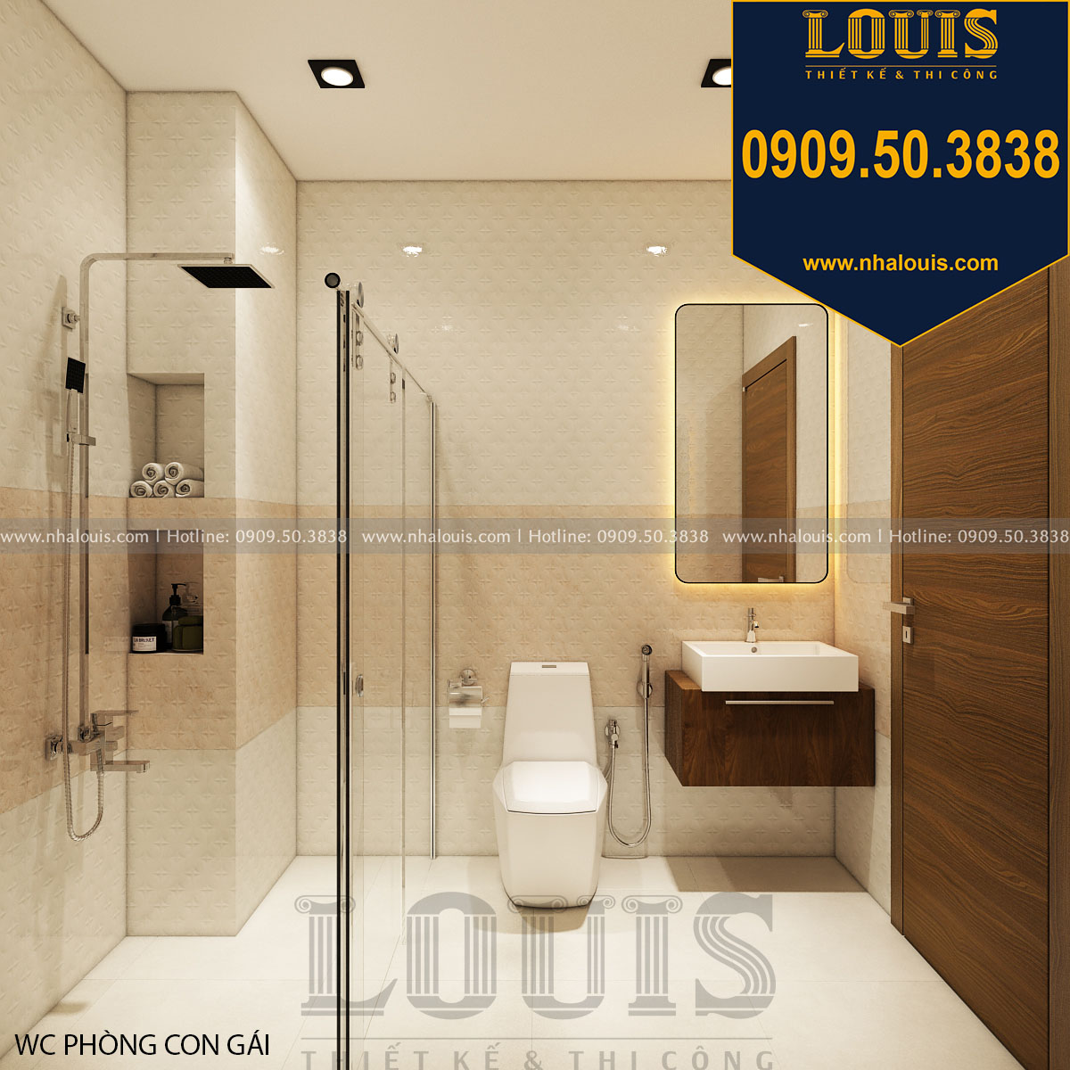thiết kế WC và phòng tắm