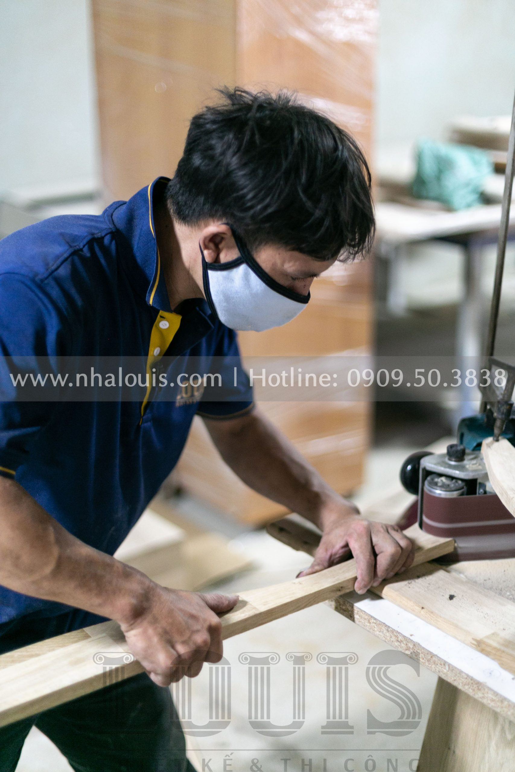 Sản xuất nội thất gỗ cho biệt thự tân cổ điển Củ Chi