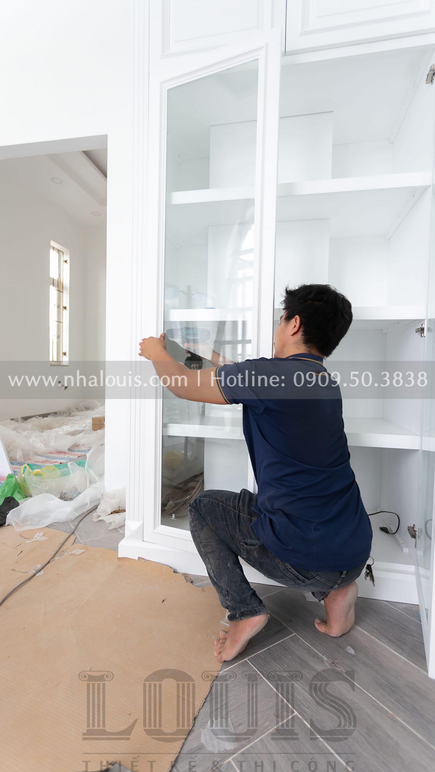 Lắp đặt tủ quần áo cho các phòng ngủ biệt thự Củ Chi