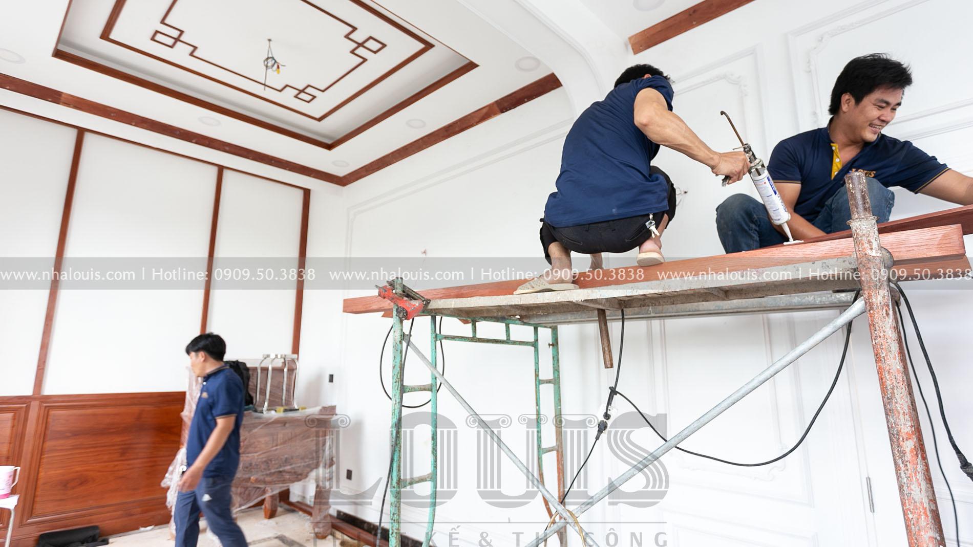 Lắp đặt nội thất gỗ cho phòng thờ