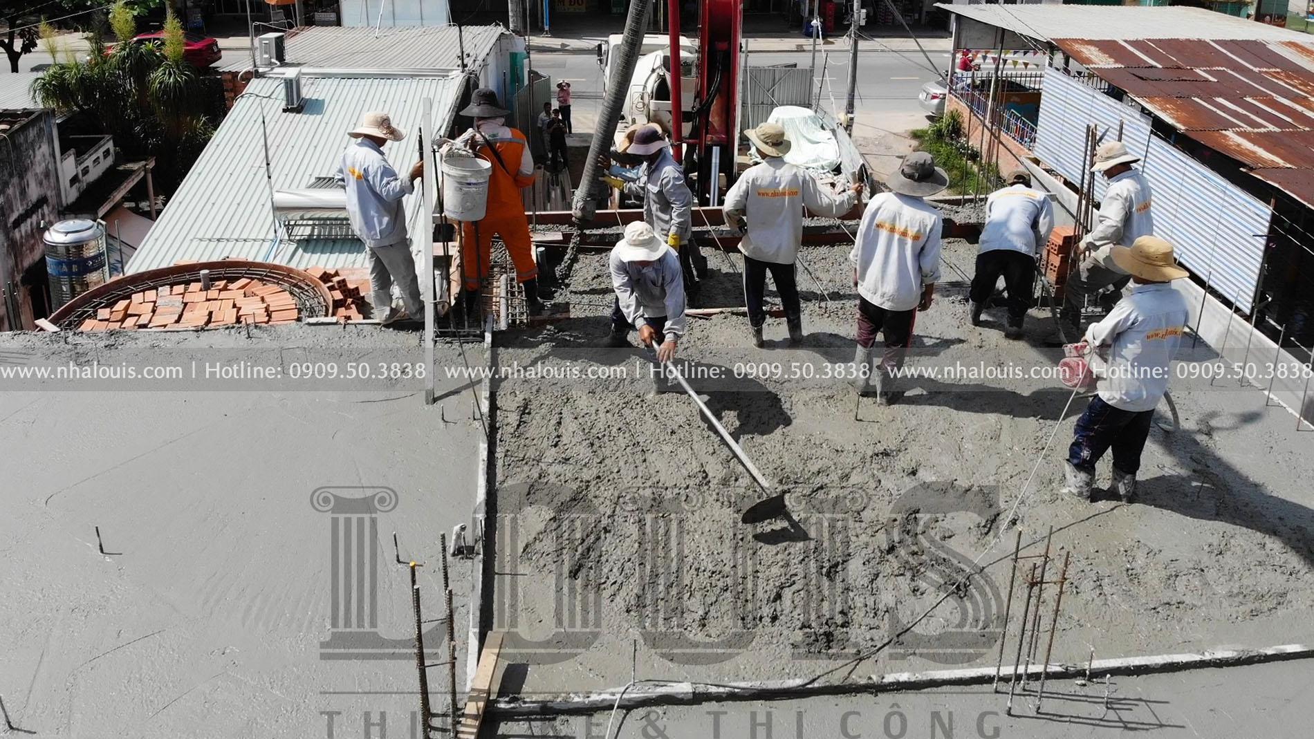 Thi công biệt thự mái thái tân cổ điển 3 tầng sang trọng tại Củ Chi
