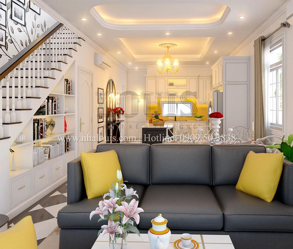 Thiết kế phòng khách và cầu thang