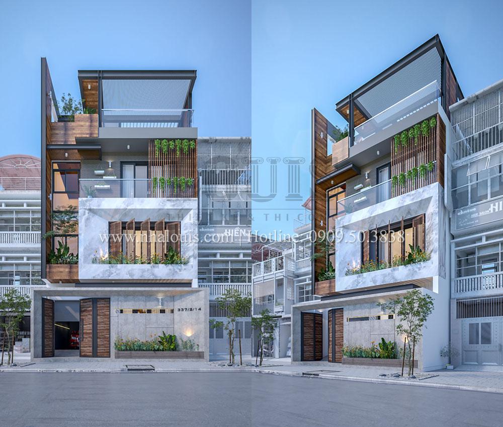 Thiết kế biệt thự phố mặt tiền 7m độc đáo tại Tân Bình
