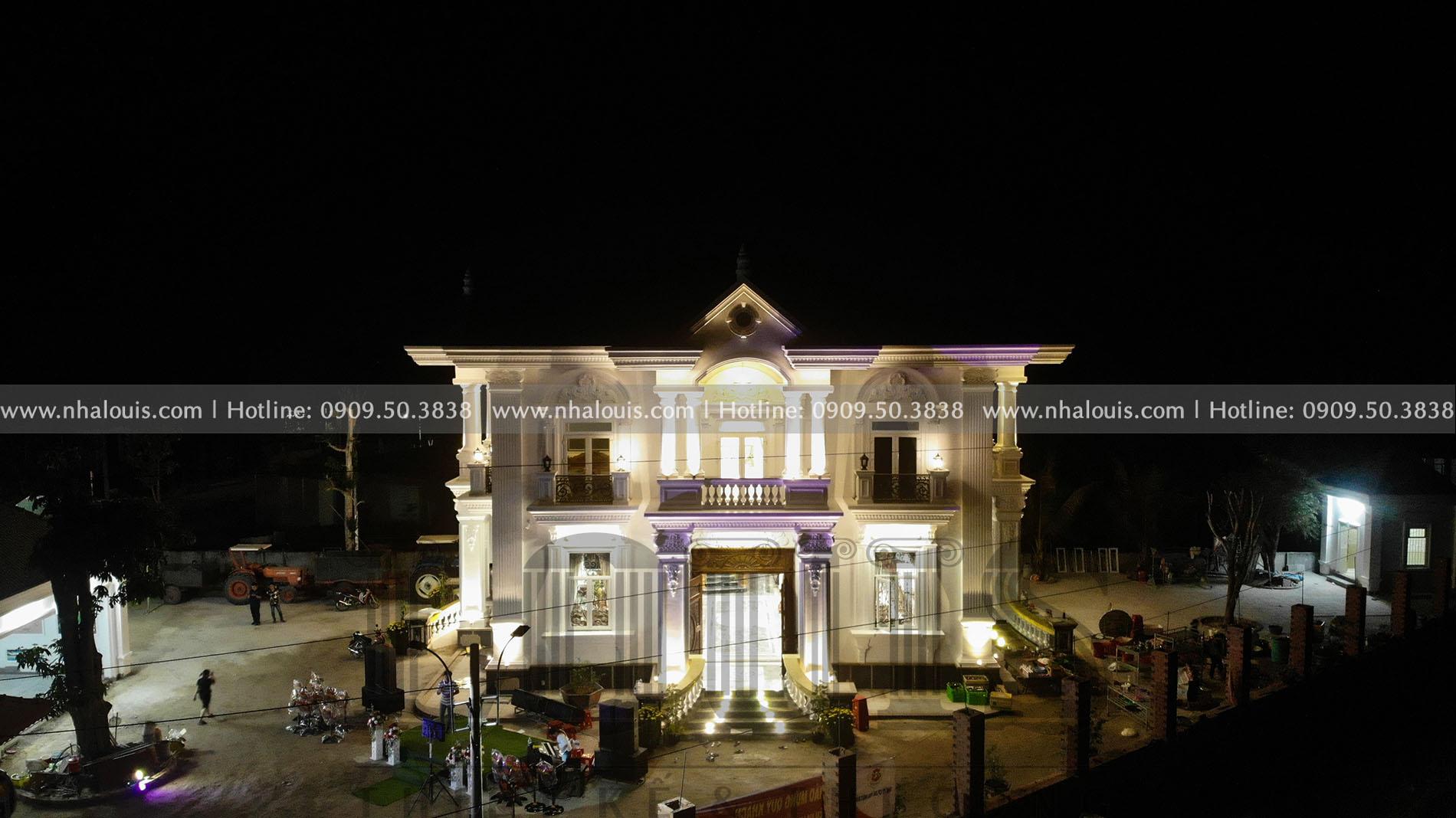 Thi công biệt thự 2 tầng mái thái đẹp sang trọng tại Tây Ninh