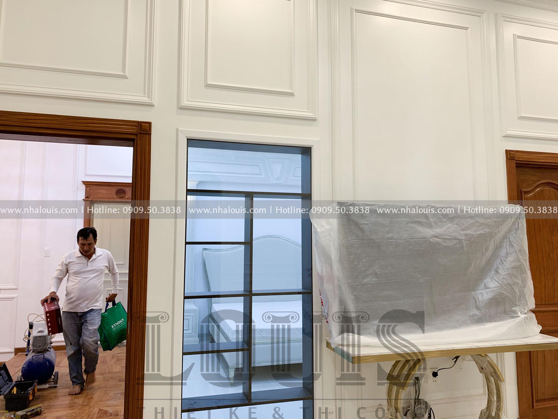Lắp đặt nội thất biệt thự cổ điển 2 tầng sang trọng tại Bến Tre