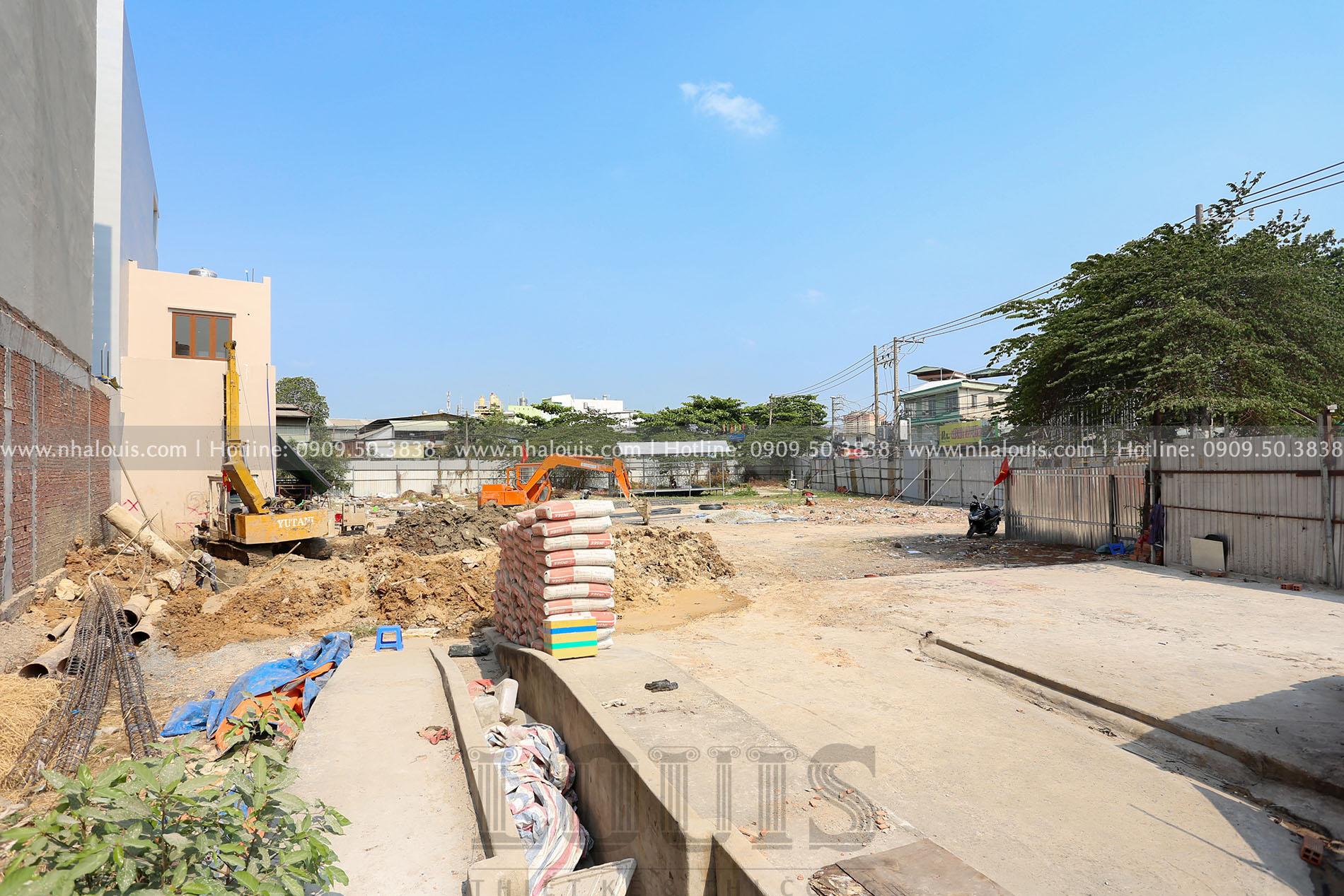Thi công khoan cọc nhồi tòa nhà văn phòng tại Quận Bình Tân