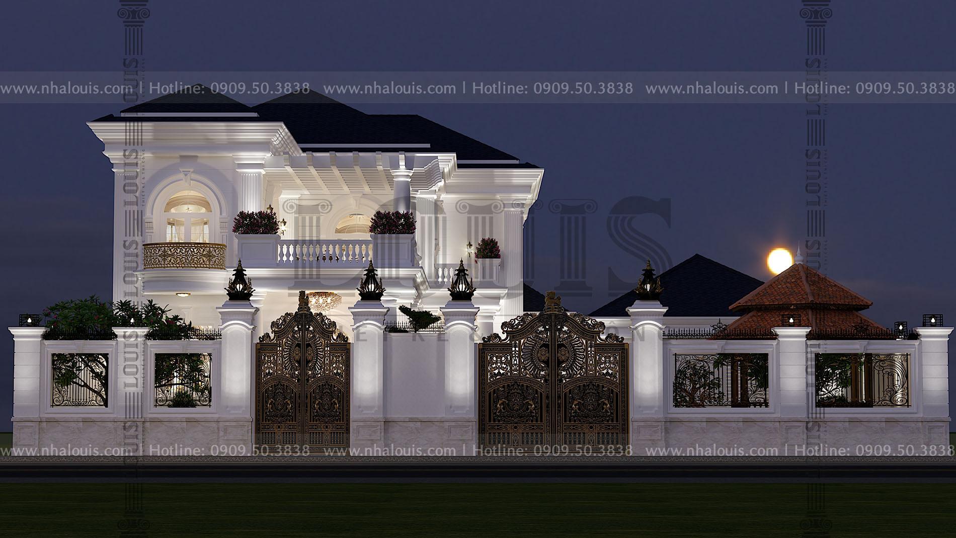 Mặt tiền biệt thự 2 tầng mái thái đẹp tại bến tre