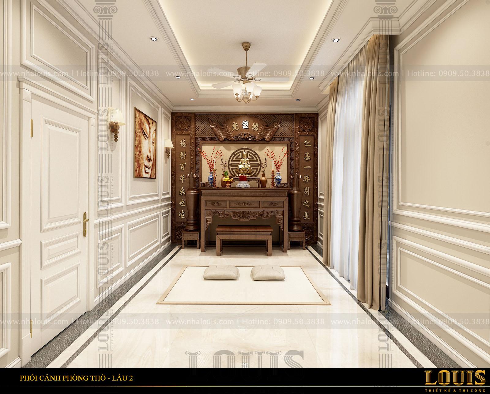 thiết kế cải tạo biệt thự 3 tầng cổ điển tại bến tre