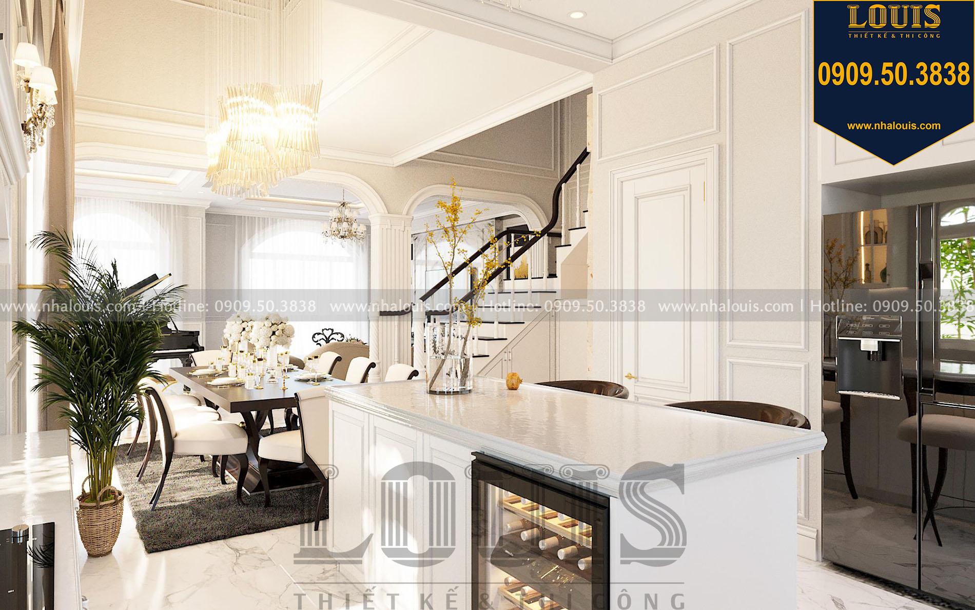phòng bếp thiết kế nội thất biệt thự tân cổ điển tại quận 2
