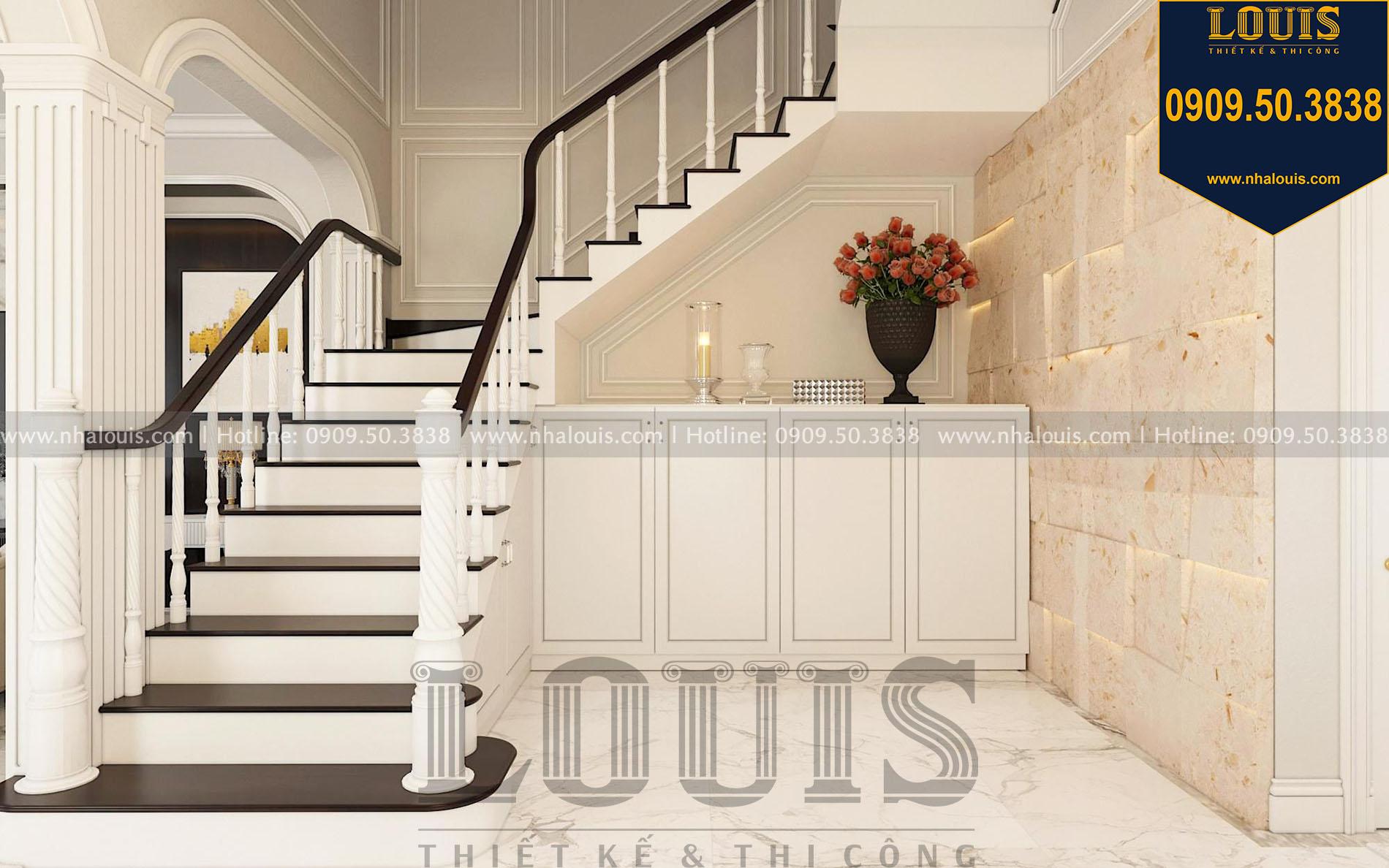 cầu thang thiết kế nội thất biệt thự tân cổ điển tại quận 2