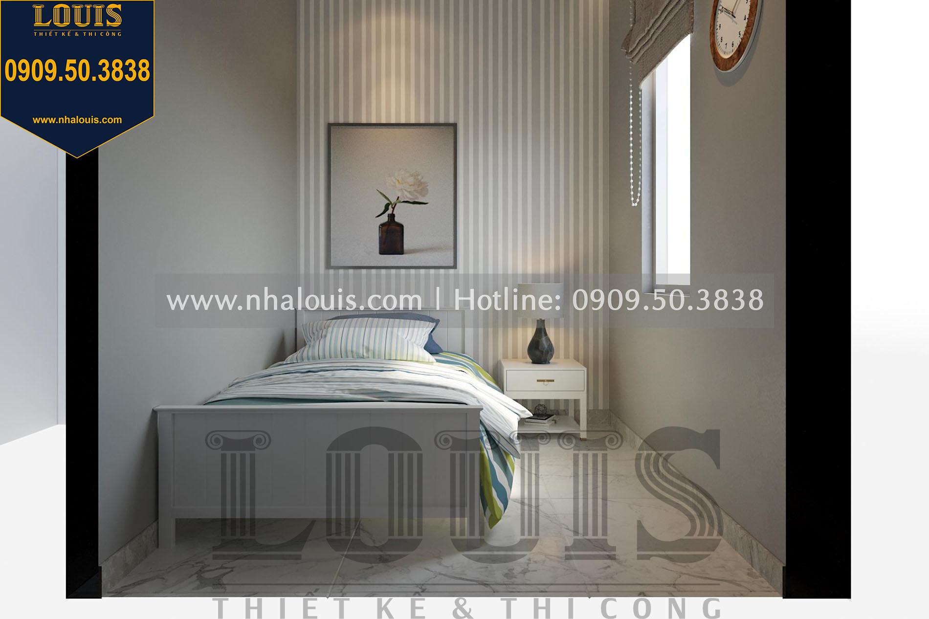 phòng ngủ giúp việc thiết kế nội thất biệt thự tân cổ điển tại quận 2