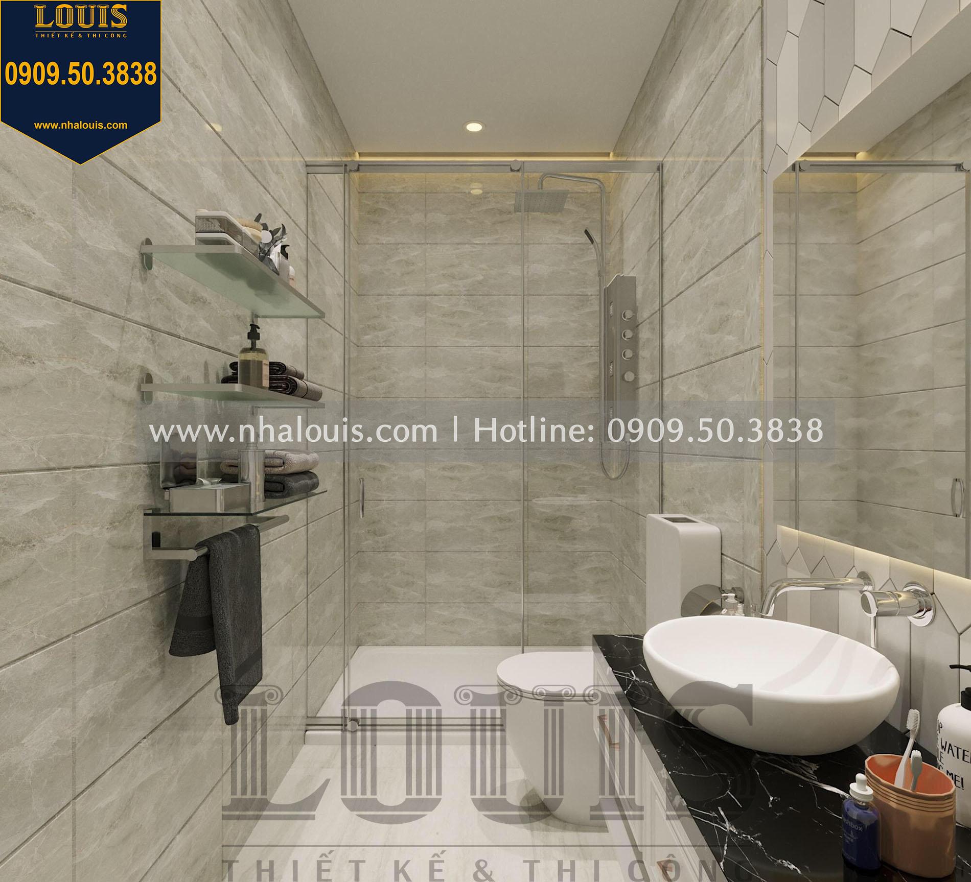 WC tầng trệt thiết kế nội thất biệt thự tân cổ điển tại quận 2