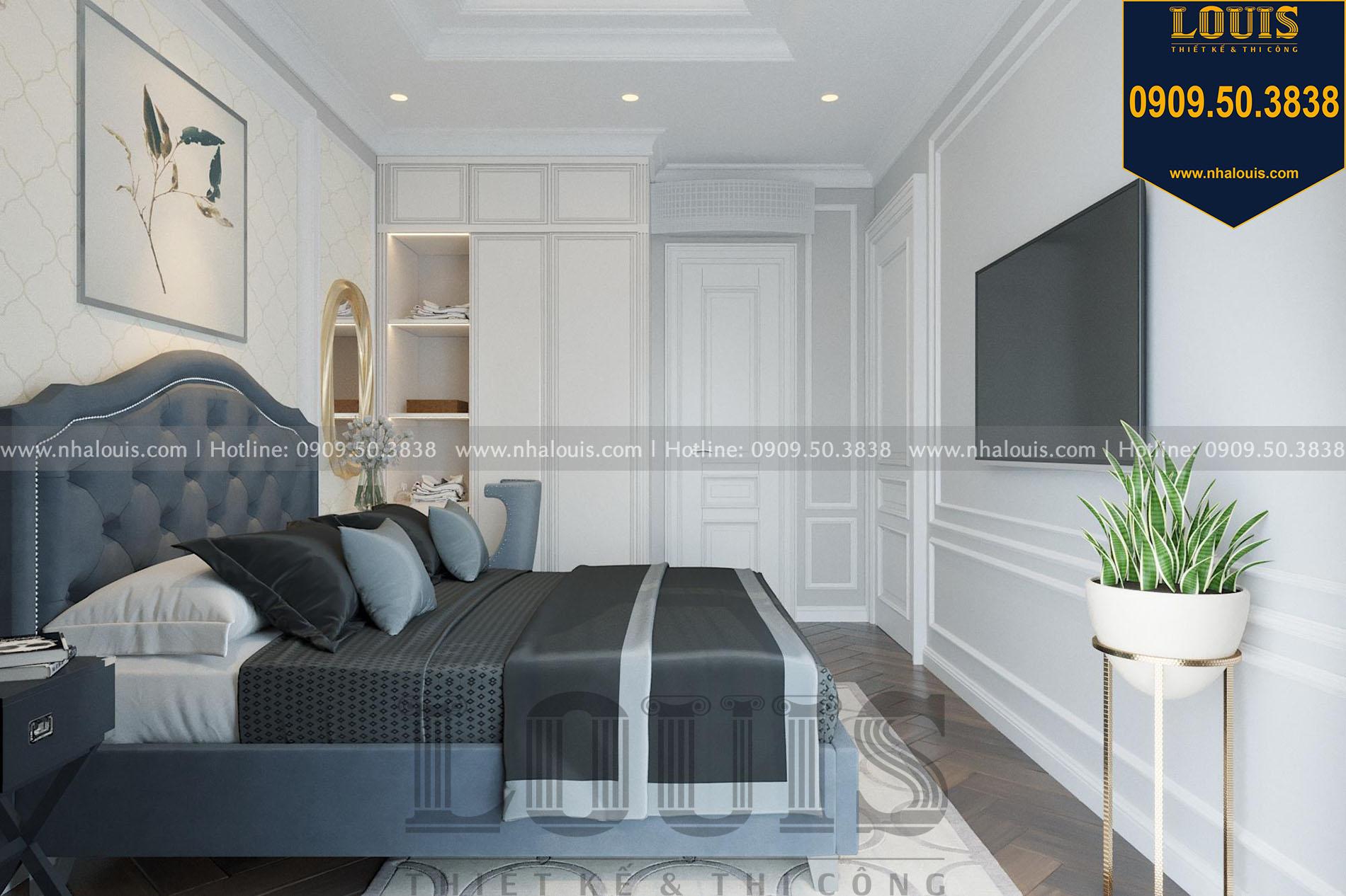 phòng ngủ 2 thiết kế nội thất biệt thự tân cổ điển tại quận 2