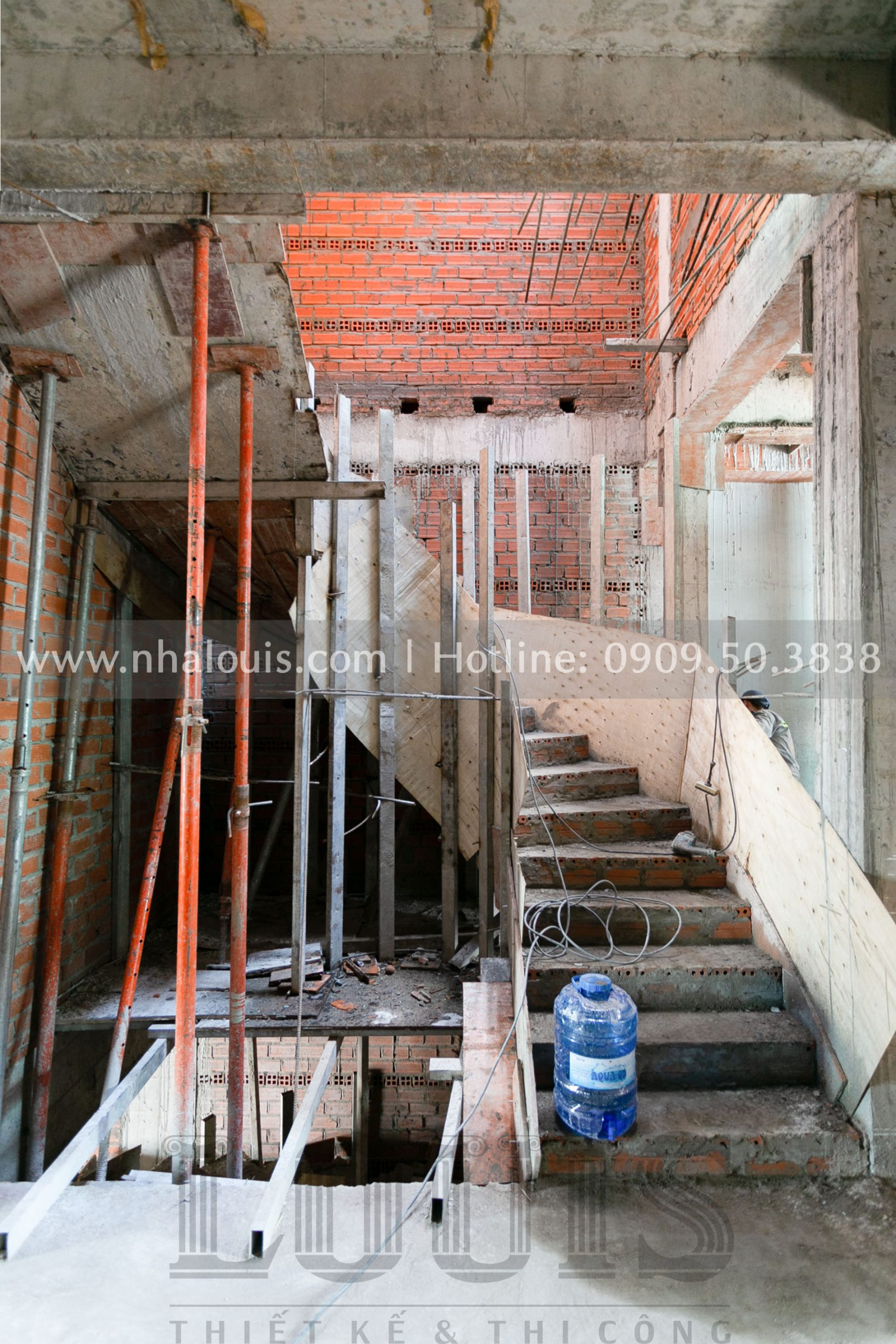 Xây tường, ngăn phòng chức năng và cốp pha mái bằng