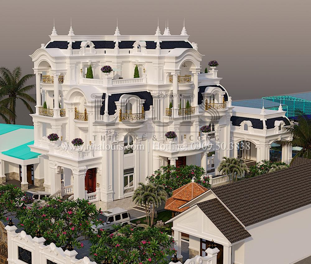 thiết kế biệt thự 5 phòng ngủ tại Bình Phước