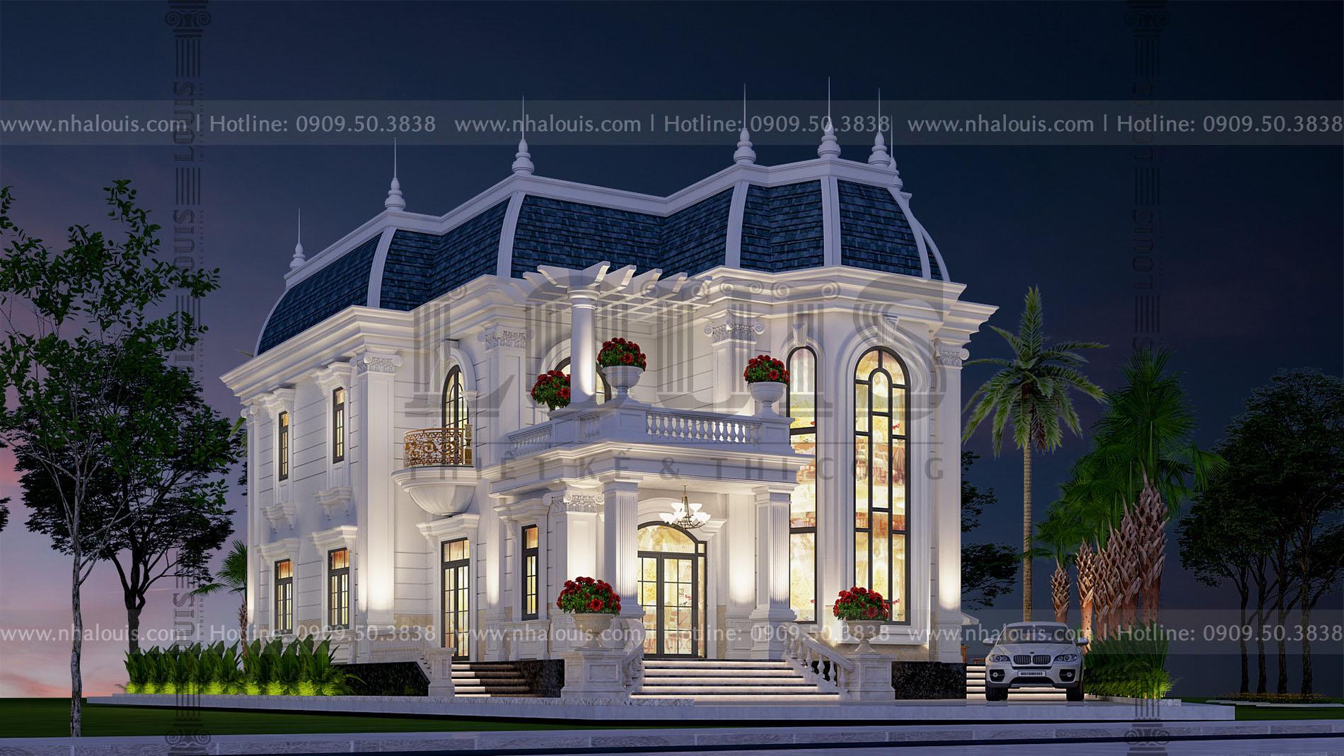 kiến trúc biệt thự mặt tiền 12m tại Trà Vinh