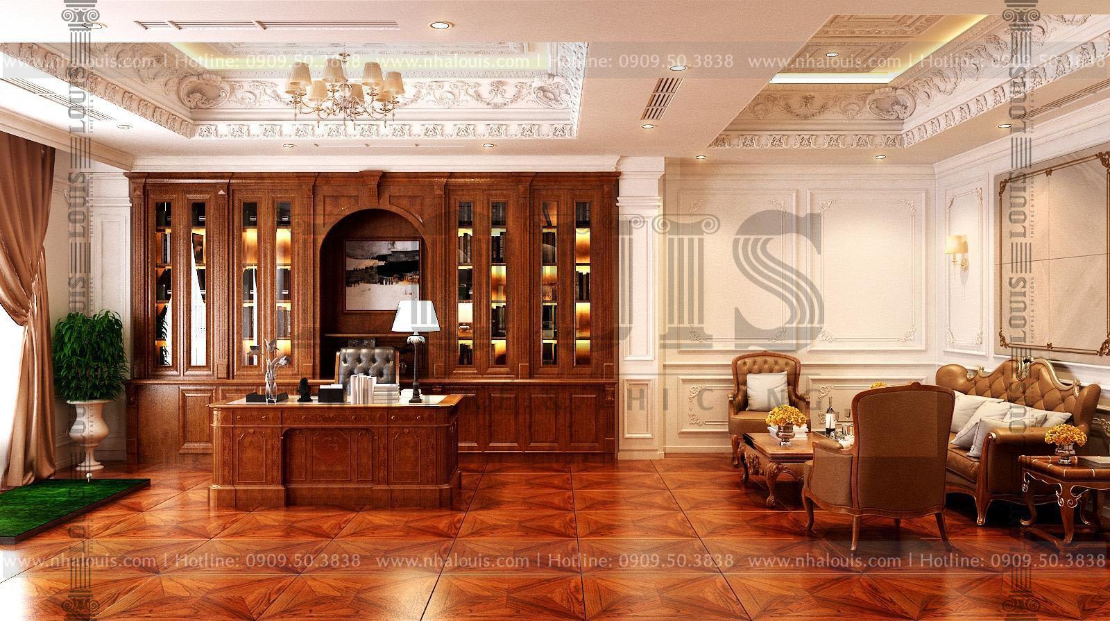thiết kế toà nhà văn phòng 9 tầng cổ điển tại bình phước