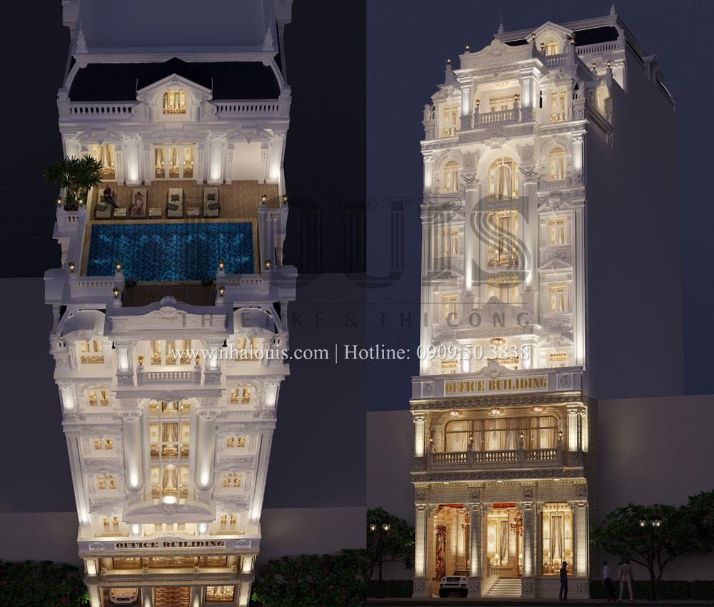 thiết kế toà nhà văn phòng 9 tầng tại bình phước profile
